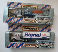 2 x Matchbox Convoy CY16 Delivery Box Trucks Matey Bubble Bath Signal Toothpaste