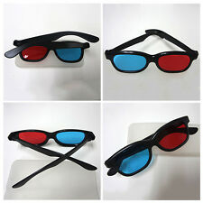 4 Pairs Red Blue 3D Glasses For TV Video Dimensional Anaglyph Movie DVD Game