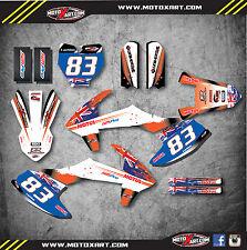 KTM 65 2016 - AUSSIE PRIDE STYLE -  Full Graphics, custom kit stickers decals