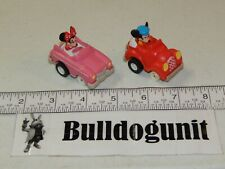 1988 Mickey's Roadster & Minnie Convertible Pullback McDonalds  Happy Meal Lot