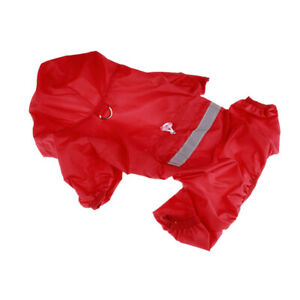 Pet Dog Raincoat Waterproof Outdoor Hoodie Doggie Rain Coat Pet Rainwear Clothes