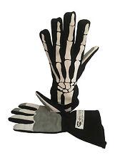 XL Skeleton SFI 3.3 Race Gloves Fire Resistant  NOMEX