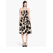 HM Calf Lenght Bandeau Full Skirt Dress size 12