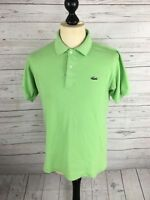 LACOSTE Polo Shirt - Size 3 Small - Green - Great Condition