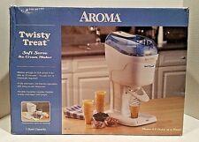 Aroma Twisty Treat Soft Serve Ice Cream Maker AIC-107 White NEW in Opened Box