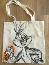Bugs Bunny Canvas Tote Bag 100% Cotton Looney Tunes Shopping/Shoulder
