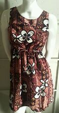 Hawaiian Reserve Collection Floral Sleeveless Dress Size Medium