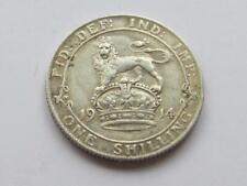 George V chelín plata 1914-buen relleno/Coleccionable Moneda