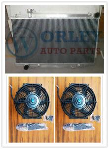 Aluminum Radiator For Nissan Fairlady 350Z Z33 2003-2006 2004 2005 AT MT + Fans
