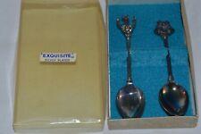 Vintage Collectible Wapw Uk Set of 2 Spoons- Bells & Horseshoe ( B25)