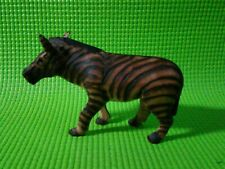 Vintage Hand Carved Small Wooden Zebra Figurine Sculpture African Safari Decor