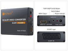 SCART A HDMI Convertidor Adaptador, Adaptador De Audio +3.5 mm, para HDTV STB PS3 Cielo Dvd