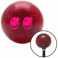 Pink Cute Eyes Red Metal Flake Shift Knob with 16mm x 1.5 Insert amp matchless