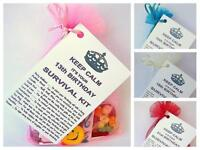 13th 16th 18th 21st BIRTHDAY PRESENT SURVIVAL KIT FUN NOVELTY GIFT CARD KEEPSAKE