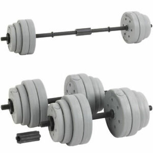 Hardcastle Multi Purpose Gym Bar with Weights  - Grey