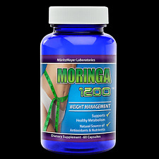 Moringa Oleifera Capsule 1200mg 1 Bottle 100% Natural Energy Super Food Anti Age