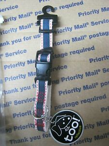 """LOT OF 6 SMALL 9""""-12"""" too! BRAND BLUE REFLECTIVE DOG COLLAR NEW"""