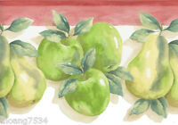 Green Red Apples Apple Pear Fruit Kitchen Country Laser Cut Wall paper Border