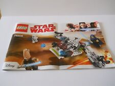 LEGO STAR WARS *** NEW *** SET NO 75206 WITH INSTRUCTIONS NO BOX OR MINI FIGURES