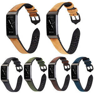 Sport Silicone TPU Leather Strap for Fitbit Charge 3 4 Smart Watch Bracelet Band
