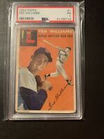 TED WILLIAMS 1954 TOPPS #1 PSA GRADED BOSTON RED SOX