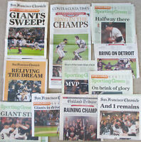 SF Giants 2012 WORLD SERIES CHAMPIONS Newspaper Collection Chronicle Sweep Win