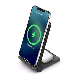25W Qi Wireless Charger Charging Stand Foldable For iPhone 12 XR Samsung S9 S20