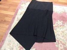 Fuego Black Skirt Large 32 waist Made In Italy Designer Tessuto Wool 50%