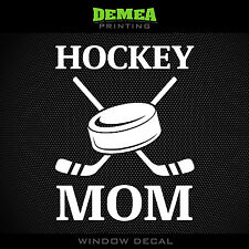 "Hockey Mom - Hockey - 5"" Vinyl Decal/Sticker - CHOOSE COLOR"