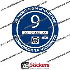 Sticker Vignette Je Roule en Sportive Crit'air 9 humour renault bmw peugeot vw