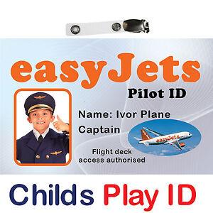 Pilots ID Card | Etihad | British Airways | Easyjet | Jet2 | Ryanair | Monarch