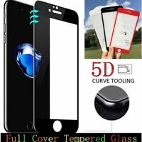 5D Tempered Glass Screen Protector Film Curved Edge Full Cover For iPhone 6S 7+
