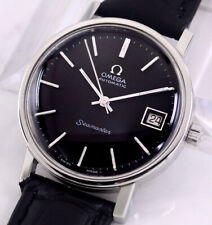 VINTAGE OMEGA SEAMASTER AUTOMATIC CAL1012 DATE BLACK DIAL MEN'S WATCH