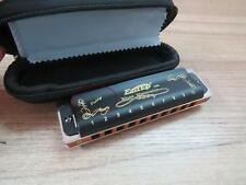 EAST TOP Harmonicas 10 holes diatonic black covers mouth organ key of  Paddy G