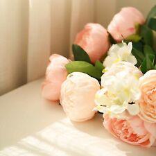 14 Light Pink and Blush Silk Peony and Hydrangea Flowers - Wedding Centerpieces