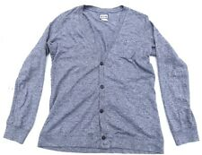 Mens DIESEL Speckled Heather Gray Button Cardigan Sweater Large
