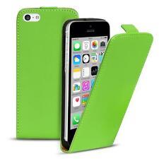 Flip Case Apple iPhone 5C Hülle Pu Leder Klapphülle Handy Tasche Cover Grün