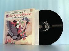 DISNEY~DISNEYLAND MOTHER GOOSE RHYMES LP RECORD ALBUM & STORY BOOK 1969 #ST-3949