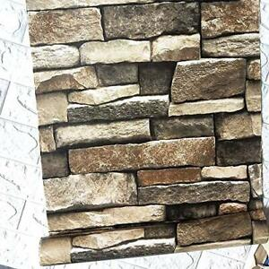 """118""""×17.7"""" Stacked Wallpaper 3D Rock Wallpaper Peel and Stick 118""""×17.7"""" Stone"""