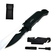Best 6-in-1 Survival Tactical Military Folding Pocket Knives with LED Light,Sea