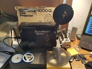 Vintage Chinon 3000GL Dual 8mm Film Projector w/ Original Box Reel