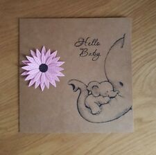 Handmade New Baby Girl Card Flower