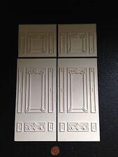 MN51/51a 2 Full & 2 Half Ornate Wall Panels Plaster RepliCast Miniatures Dolls