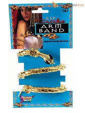 Ladies Metal Snake Bracelet Adult Egyptian Queen Cleopatra Fancy Dress Accessory
