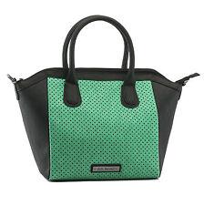 GG Rose by Rock Rebel Perforated Star Tote Handbag Aqua Green