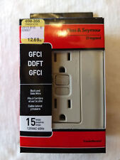 Pass & Seymour Ivory Vertical Aligned 15A GFCI Outlet 1595-ICC10