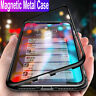 Magnetic Adsorption Tempered Glass Case Cover Huawei P30 P20 Lite Mate 30 20 Pro