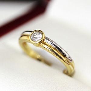 Simple, elegant, 18ct 2 tone, G / VS .20ct Diamond Solitaire engagement ring