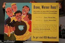 ✪ MOTO Renn MANIFESTO NSU Werner Haas rennfox Rennmax circa 1954, 125 CC