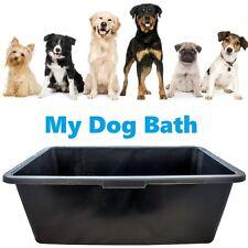 BLACK DEEP PLASTIC WATER DOG ANIMAL BATH TUB GROOMING CLEANING WASHING